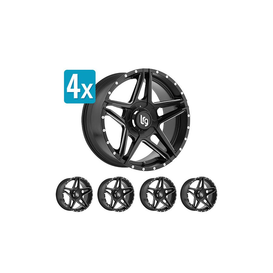 (Set Of 4 Wheels) LRG Rims 109, 20x10 With 5 On 5.5 Bolt